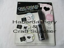 CHALKBOARD FABRIC PAINT KIT* WATER BASED *HEART