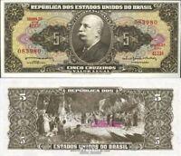 Brasilien Pick-Nr: 176c bankfrisch 1964 5 Cruzeiros, alt