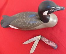United Cutlery USA made UC894 mint Canada Goose knife & wooden decoy dg