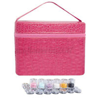 84 Bottles Diamond Painting Charms Rhinestones Tool Storage Bag Case