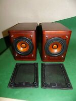 JVC Hi-Fi 2 Speakers 16cm SP-EXA1 40W 4ohms Rosewood Wood Cone Small hifi