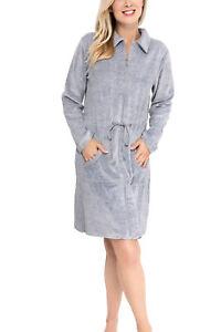 Bademantel Saunamantel aus Nicki mit Reißverschluss für Damen von Moonline