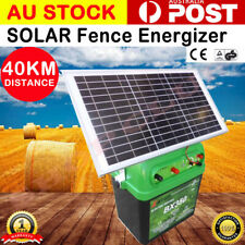 40km 2.5J Solar Power Electric Fence Energizer Charger poly wire tape BX350