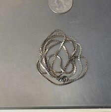 """CrazieM 925 Silver Vintage Southwest Estate Ankle Bracelet 9-10"""" 6.8g x76"""