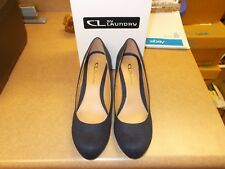 CL by Laundry NIMA Super Suede Wedge Pumps ~ INDIGO  Sz 10 M NEW!