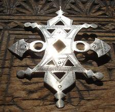 Niger Tuareg cross  hand engraved  very large square  pendant