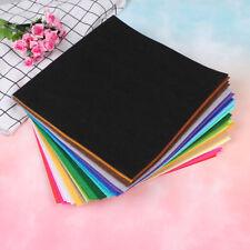 40 colors squares non-woven felt fabric sheet for Diy craft supplies scrapbook H