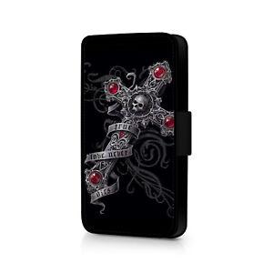 Skull - True Love Never Dies - Cross - Phone Flip Case For iPhone