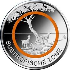 2018 5 Euro Germany Subtropical Zone Orange Polymer Coin G mint Karlsruhe