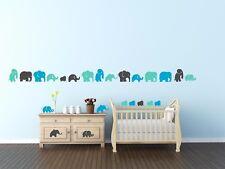 Elephants Nursery Animals Wall Art Stickers Decal Vinyl Decor Home Quote Room 48
