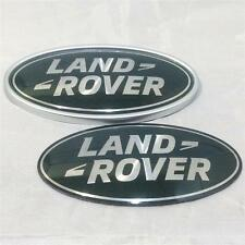 New OEM Range Rover Vogue Green & Silver Supercharged Oval Grill Boot Badge Set