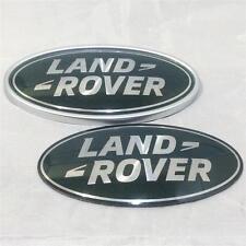 Nouveau oem range rover vogue vert & argent suralimenté ovale grill badge coffre set