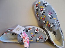 VANS Disney Mickey Mouse/Frost Gray Classic Slip-Ons Men's Size 10 New In Box