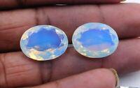 29 Cts 2 Pcs Lab Created Opal Oval Cut Loose Gemstone Oval Size-15X20 MM M-857