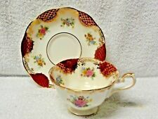 Royal Albert Empress Series Catherine  Red Panel Cup and Saucer