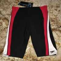 SPEEDO Sonic Splice Swim Jammer Male Shorts Black Red White NEW Mens Sz 32 34 36