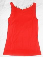 NW3 Hobbs Pointelle Vest orange coral jersey sleeveless Lace Top Size L vgc