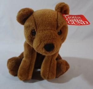 """GUND SLIDER Brown Bear #2396 7 1/2"""" Bean Bag Plush New w/Tags Clean L@@K!"""