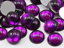 5mm Purple Amethyst .NAT02 Flat Back Acrylic Round Cabochon - 100 PCS