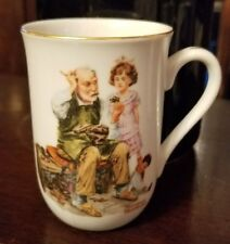 """Vintage 1982 Norman Rockwell Museum """"The Cobblerr"""" Collectible Coffee Cup Mug"""