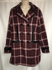 Express Peacoat Womens Medium Black Multi Color Jacket Plaid NWT $198