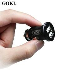GOKI 5V/2A & 12V Vehicle Auto Dual USB Car Charger for Apple Android Devices