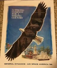 Flying Model Rocket General Dynamics Poster Air/Space America '88 Estes Astron