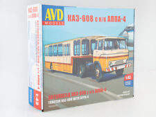 Model for assembly 1/43 Road train KAZ-608 with semi-trailer APPA-4