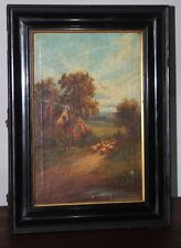 Oil Painting on Canvas British Landscape signed J B MEAD 1915 [PL2662]