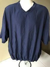 Footjoy ~ Men's Xl Blue ~ V-Neck w/ 2 Zipper Pockets Embroidered Logo Pullover