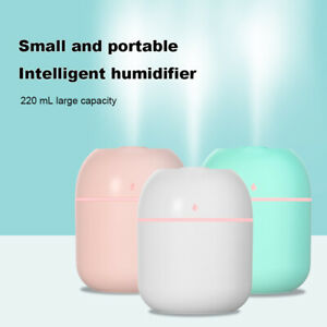 220ml USB LED Air Humidifier Quiet Mist Purifier Aroma Oil Diffuser For Home Car