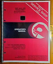 John Deere 340 440 Trailfire Snowmobile S/N 155001-190000 Owner Operator Manual