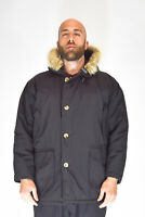 WOOLRICH ARTIC PARKA Giubbotto Blu Stile Casual In Poliestere TG L Uomo Man