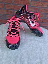 Nike Cleats Size 5.5Y Pink Black Hyperdiamond Soccer Softball Shoes Swoosh Girls