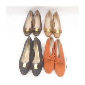 Ferragamo Leather Suede Leather Pumps Shoes 4 pairs set 525215
