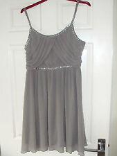 Pretty  Grey Chiffon party dress  size 12