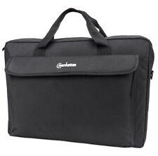 Manhattan London Laptop Bag 17.3-inch, Top Loader, Shoulder Strap, Black
