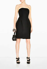 =MINIMAL= ACNE STUDIOS $1900 Black Structural Tailored Wool Tube Top Dress US2
