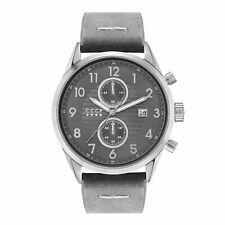 CCCP Men's Golden Soviet Submarine CP-7029-01 43.5mm Gray Dial Leather Watch