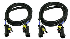 2X HID 24'' Extension Wires Harness cables extender 2 feet HID SUV TOW trucks GM