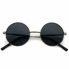Breeze Sunglasses Small John Lennon Sunglasses Round Hippie Hipster Retro Silver