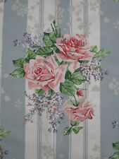 "SANDERSON CURTAIN FABRIC ""Cecile Rose"" 3.6 METRES DUCK EGG/ROSE VINTAGE 2 COLL"