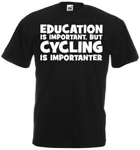 Education Cycling Novelty Funny T Shirt Birthday Xmas Gift Son Brother Dad MTB