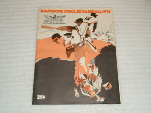 1976 Baltimore Orioles Spring Training Scoresheet Roster Miami Stadium Royals