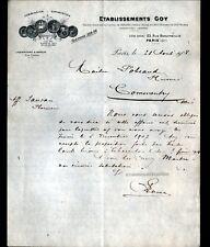 """PARIS (IV°) Produits & Matériel Pharmaceutique """"LABORATOIRES GOY"""" en 1908"""
