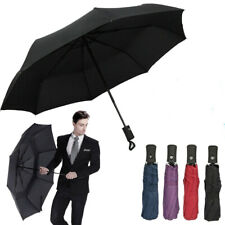 Automatic Black Umbrella Anti-UV Sun/Rain Windproof 3 Folding Compact Umbrella H