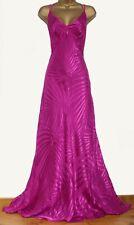 MONSOON ✩ STUNNING NEVADA PINK SILK CHIFFON DEVORE MAXI LONG DRESS ✩ UK 10 BNWT