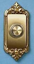 Carlon Victorian Antique Brass Doorbell push button Decorative Door hardware