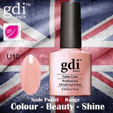 UK SELLER Gdi Nails NUDE Range U10 UV/LED Gel Soak Off nail polish