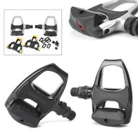 For Bicycle PD R540 Road Bike Clipless Pedals Float Cleats Black 1 Pair